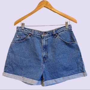 Vintage High Waisted Levis Jean Shorts
